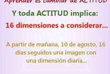 ACTITUD - 16 dimensiones  ABACOenRed / Las 16 dimensiones de toda Actitud... se integran en un solo, en una totalidad, de manera integral y holística, sistémico.
