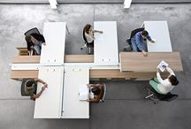 Create inc. communal space / A communal working environment.