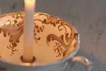 Velas y candeleros