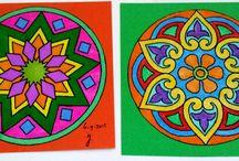 Al mijn zelfgemaakte kleurplaten / Kleuren voor volwassenen.