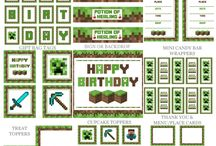 Minecraft Party / Ideas for child's minecraft party
