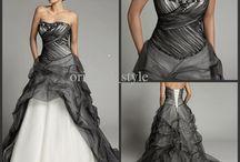 WEDDING DRESS TWO COLOURS/ ABITI SPOSA BICOLORI