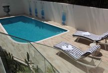 Luxury pool design - Claire Rendall / I really love the opportunity of creating a swimming pool area. I love using materials that are transformed by water, or compliment it. I love the use of lighting, of textures, of being practical when nobody notices it...!