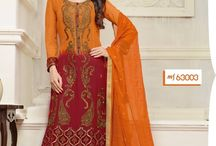 MF Embroid / Designer Straight Gerogette Salwar Suit with embroidery