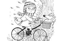 Ilustración para chicos/as. Blanco y negro