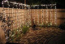 ljussättning i trädgården