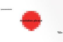 resolution please - designers for japan / by perezramerstorfer design & creative studio