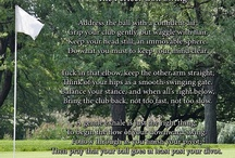 "Golf / If you know someone who loves golf, but golf doesn't love them back, they may need the assistance of ""The Perfect Golf Swing"". An ideal, humorous poem gift for the less-than-ideal golfer. / by PoetryPrints.com"