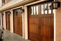 garage doors.