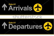 Airport Signage and Wayfinding / Navigational aids and wayfinding signage and signs in the world airports. Semiotics and finding the way from a to b.