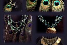 Peacock Glam / Handmade and art