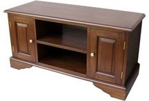 TV Units / High quality and attractive TV and media units made from mahogany and burr Walnut.