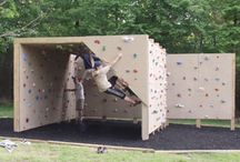 Backyard Climbing Wall and Bouldering Wall