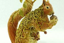 Fantasy Sculptures / My Fantasy Polymer Clay Sculptures