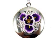 Purple Iris Jewelry / Purple Iris Flower Jewelry including bracelets, earrings, necklaces and hair flowers.