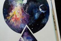 Galaxy waterverf