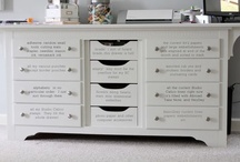 Craft storage / Anything to help me with my clutter is a posotive. / by Melanie Schafer
