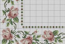 Схемы для вышивки крестиком: флористика