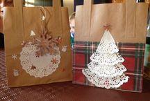 Debs crafting / Christmas bags. DIY