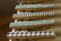 Clothespins / Creative ways to decorate with old laundry fasteners.