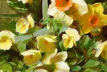 Daffodils flowers art