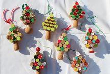 Korek + knoflík (Vánoce)