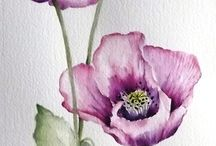 Watercolour Flowers and painting