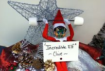 Library Elf Antics / Shelf elf gets up to some interesting things at the Clive Public Library.