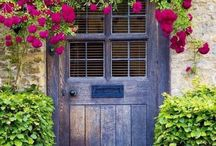 flowery window/doorways