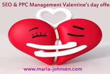 SEO Valentine's day / SEO PPC discount Valentine's day