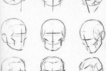 insan yüzü çizimi