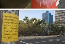 microrroteiros da cidade / fotos do projeto microrroteiros da cidade, de laura guimarães | lambe -lambe , roteiro, arte de rua, poesia, poste , muro, papel , tinta, spray