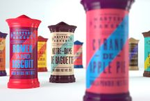 PACKAGING - Haute Typography / Designer style typographic minimally trendy packaging.