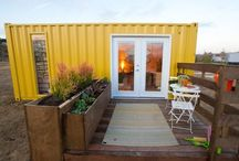 container homes tiny houses / by Vanessa Constanti