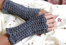Crochet gloves & Scarfs