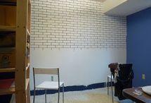 faux mur briques