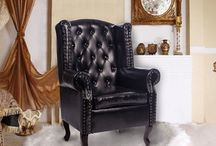 Black Leather Armchair Chair Sofa Beautiful Living Room Furniture Deluxe Home