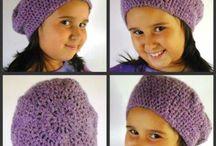 Gorros, boinas crochet. Para mujeres. / Gorros, boinas crochet. Imágenes relacionadas. Mujeres niñas.