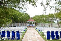 green/blue travel theme wedding / A chic green and blue themed travel wedding at The Tribute Golf Club in the Colony.