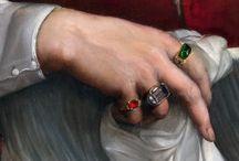 rings in paintings / Rings i paintings ca 1450 - 1700