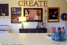 Home Deco - Craft rooms / Pictures of Craft rooms / by Julie Richards
