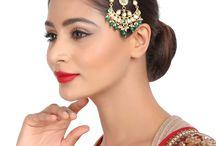 Hair Broochs / #Kushals #Jewellery #Fashion #Indian #Jewellery #HairBroochs #WeddingAccessories #Zircon #Kundan #Festive