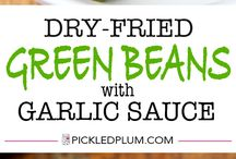 green beans with garlicsouce