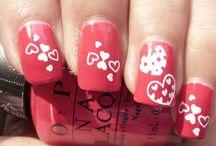 Heart Nail Art - Uñas con corazones / Diseños de uñas decoradas con corazones, Heart Nail Art