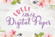 Papir med mønster