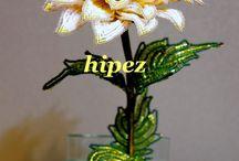 květiny z korálků - inspirace