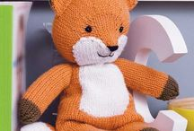 knitted toys and  Crochet