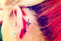 Behind ear tattooes