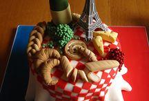 France theme cakes