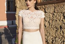 Two piece Wedding gowns